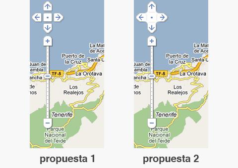 Propuestas de interfaz Google Maps
