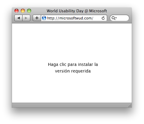 Microsoft's World Usability Day website screenshot